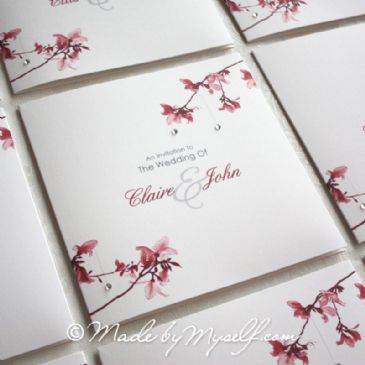 Blossom Pocketfold Wedding Invitation